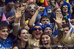 Visitor in the student section! | Duke vs UNC 02.13.13 | Duke Sports Photos | NewsObserver.com