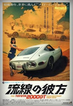 Poster for a documentary film about the 2000GT.
