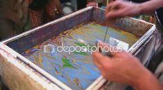 Ζωγραφική σε νερό γρήγορα — Αρχείο Βίντεο © cylonphoto #87263192