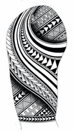 Samoan inspired sleeve tattoo design with Maori Koru shapes - Tribal Poly . - Samoan inspired sleeve tattoo design with Maori Koru shapes – Tribal Polynesian tattoos and ideas - Polynesian Tattoo Sleeve, Polynesian Tattoos Women, Polynesian Tattoo Designs, Maori Tattoo Designs, Hawaiian Tattoo, Best Tattoo Designs, Tattoo Sleeve Designs, Filipino Tattoos, Polynesian Art