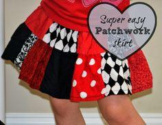 Patchwork Skirt Tutorial #seweasy #sewing #DIY