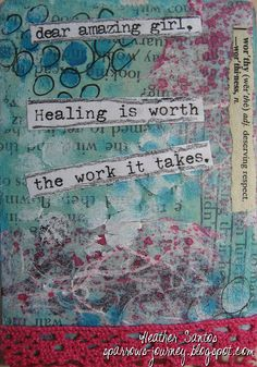 Heather Santos #BraveGirlsClub Truth Card Exchange, via Flickr. @BrownEyedBetty Girls Club #quotes #smashbook