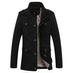 The perfect black trench Trench Jacket, Jacket Men, Trench Coats, Blazers, Mens Windbreaker, Black Khakis, Fall Jackets, Men's Jackets, Jacket Style