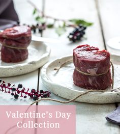 Two tender Grass Fed Filet Mignon steaks just in time for a very romantic Valentine's Day eve.   Grab your Valentine and share the tender romance of indulgent, rich flavors of this quintessential steak cut.