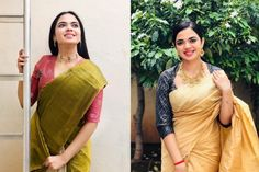 Epic Ways To Mix And Match Your Sarees Blouses! Blouse Back Neck Designs, Blouse Designs, Fashion Games, Mix N Match, Saree Blouse, Sarees, Blouses, Sari Blouse, Blouse