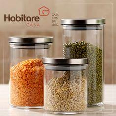 Os potes perfeitos para você armazenar o que mais desejar da cozinha!
