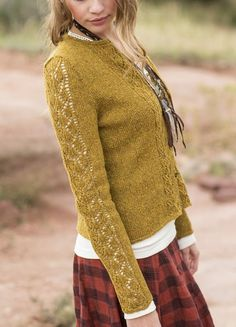 Knitting pattern : Aspens Cardigan by Anne Podlesak http://www.ravelry.com/patterns/library/aspens-cardigan