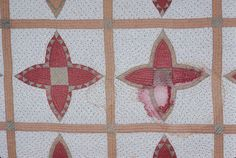 """Vintage, Circa 1900, """"Pineapple Cactus Quilt"""", version of the Pickle Dish Quilt.  North Carolina Museum of History"""
