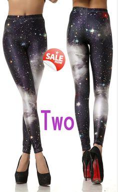 Galaxy Blue Leggings Yoga Leggings Yoga Clothes by CherryAIO, $12.90