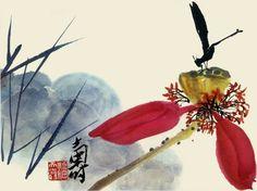 #PanTianShou #WaterColorLotus #ChineseInkPaintingLotus