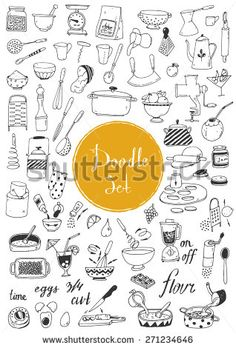 Find Big Doodle Set Kitchen Tools Cooking stock images in HD and millions of other royalty-free stock photos, illustrations and vectors in the Shutterstock collection. Kitchen Art, Kitchen Tools, Eps Vector, Vector Free, Drawing Quotes, Food Illustrations, No Cook Meals, Create Yourself, Graphic Art