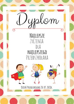 Ogólnopolski Dzień Przedszkolaka - inspiracje i upominki Kids And Parenting, Mini Albums, Montessori, Diy And Crafts, Kindergarten, Graduation, Bullet Journal, Scrapbook, Education