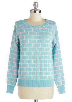 Build on Beauty Sweater. Your natural radiance makes a fab foundation for any look, especially when it's constructed around this pastel sweater from Kling!