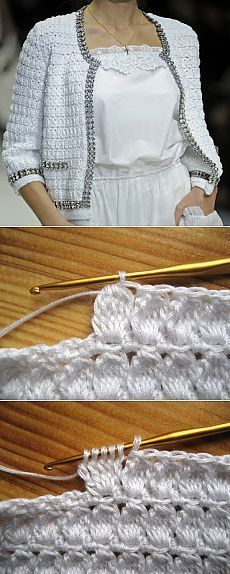 Pull Crochet, Gilet Crochet, Mode Crochet, Crochet Jacket, Crochet Cross, Crochet Stitches, Knit Crochet, Crochet Cardigan Pattern, Crochet Blouse