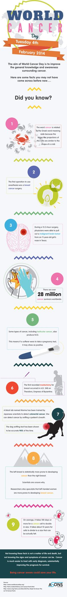 World Cancer Day 4th February 2014   #Infographic #Cancer #Health