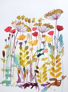 Original Floral Watercolour Painting- Stems - by Annabel Burton