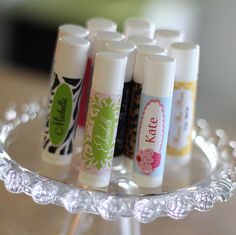 DIY - Personalized Lip Balm Stickers & Chapstick tubes, so fun to Make!!
