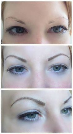 Cosmetic Tattoo. Permanent Makeup. feather Touch Eyebrow Tattoo. AURA Cosmetic Tattoo Studio.