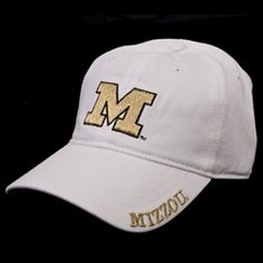 fa7b69f0ea636 The Mizzou Store - Mizzou Juniors  Metallic Gold   White Adjustable Hat