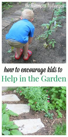 Check out these simple ways to encourage kids to help in the garden.