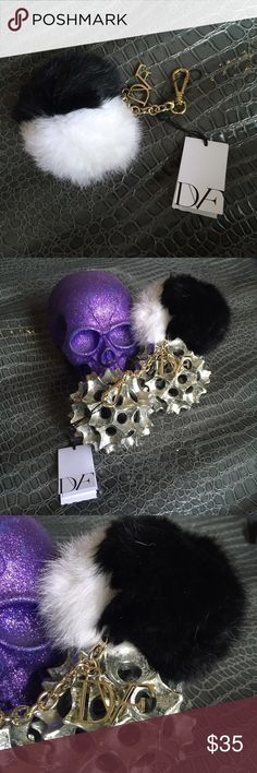 NWT Diane Von frustenburg  fur keychain ball |💀|  DVF fur keyball |💀|  NEW WITH TAGS  |💀|  black and white • gold accent chain     Use the OFFER BUTTON • bundle for 10% off       🤗 please no drama ladies lets be nice 🤗    • 5 star rating • over 300 sales • smoke free home • 100% authentic • packedtokill •         |💀| www.thethugwife.com |💀|            🚫 🙅🏻 N O   TRADES 🙅🏻 🚫 Diane von Furstenberg Accessories Key & Card Holders