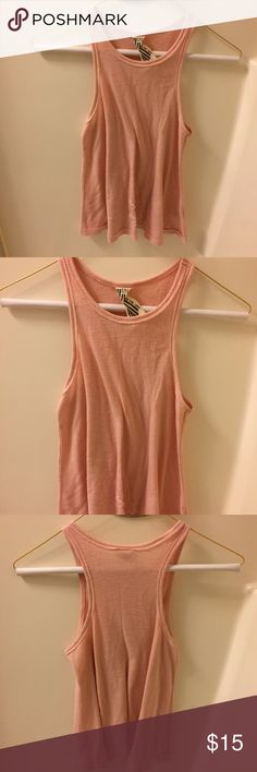 bd15e548d6a24 Free People Long Beach Tank Top The Free People Long Beach Rusty Rose Tank  Top is