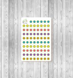 S140 - 78 Flower Dots Planner Stickers by MioCartaPesta on Etsy