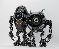 Robotic friends from another planet by Ociacia.deviantart.com on @deviantART