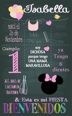 Como decorar fiestas para niña de 1 año Minnie Mouse Pink, Minnie Mouse Party, Mouse Parties, Minnie Birthday, Baby Birthday, Kids Birthday Party Invitations, Baby Party, First Birthdays, Party Time