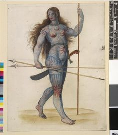 Celtic: A Pictish warrior woman. History states that Celtic warrior women were every bit as fearsome as the men.that makes sense if you know my family lol Women In History, Ancient History, Pictish Warrior, Potnia Theron, Medieval, Celtic Warriors, Female Warriors, Celtic Culture, Uk Culture
