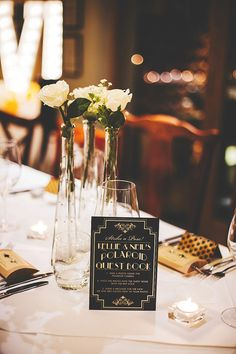 Art Deco inspired guest book | Photography by http://www.jessicareeve-photography.com/
