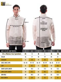 The perfect fit of the barong tagalog for men is key to making you look as good as possible. Get a great fitting barong tagalog at Barong Warehouse today. Barong Tagalog Wedding, Barong Wedding, Wedding Vows, Wedding Attire, Dream Wedding, Wedding Dresses, Mens Shirt Pattern, Filipino Wedding, Body Measurement Chart