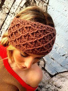 crocheted headband..no pattern