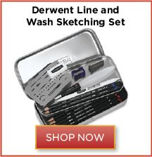 Derwent Line and Wash Sketching Set: Create exciting splashes of graphite, dynamic tones, and dramatic lines with the Derwent Line and Wash Sketching Set. http://www.dickblick.com/products/derwent-line-and-wash-sketching-set/