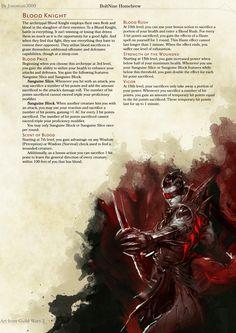 Blood Knight Fighter by Jonoman3000