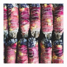 Floral Sage Smudge Sticks Travel Collection - Mini — Good Living is Glam Sage Smudging Lavender Leaves, Lavender Blossoms, Lavender Roses, Yerba Santa, Sage Smudging, Burning Sage, Smudge Sticks, Kraut, Rose Petals