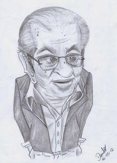 16 de maio, 2012 Caricatura no tamanho A4. Desenho feito somente a lápis 2b e 4b.