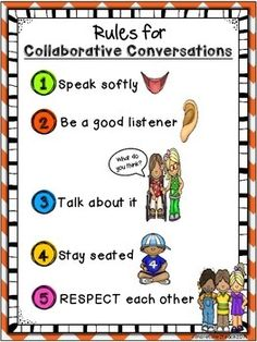 """PRIMARY Collaborative Conversations FREEBIE {Rules and Recording sheets) ......Follow for Free """"too-neat-not-to-keep"""" teaching tools & other fun stuff :)"""