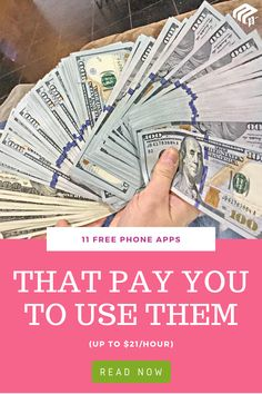 Looking for ways to make extra money? Try these apps Ways To Earn Money, Earn Money From Home, Money Saving Tips, Way To Make Money, Get Paid Online, Online Jobs, Apps That Pay You, Win For Life, Hustle Money