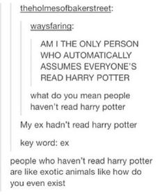 I have not read harry potter...
