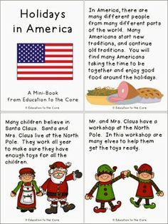 Education to the Core: Holidays/Christmas Around the World unit and a FREEBIE Holidays in America book!