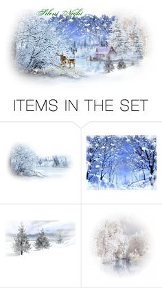 """""""Silent Night"""" by kateolive ❤ liked on Polyvore featuring art"""