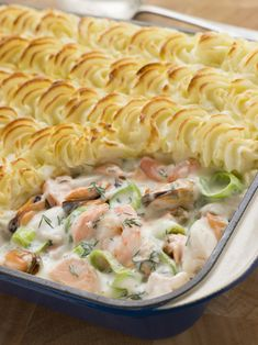 This seafood pie recipe is so creamy and flavorful. It is a must try for seafood lovers and a wonderful meal to serve on a Sunday night. Seafood Pie Recipe from Grandmothers Kitchen. Pie Recipes, Great Recipes, Cooking Recipes, Favorite Recipes, Seafood Pie Recipe, Seafood Recipes, Salmon And Asparagus, Baked Salmon, Tasty