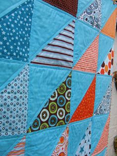 HST Baby Boy Quilt - Detail by Laura @ Needles, Pins and Baking Tins, via Flickr