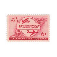 Powered Flight Airmail Issue - 1953