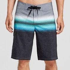 Men's Board Shorts Ombre Stripe - Mossimo Supply Co.™