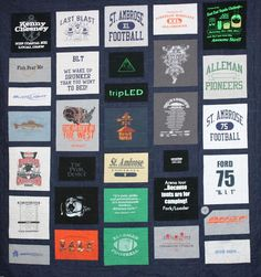 Awesome quilt!!! Great memories!  Came from this website www.hilltophenscreations.com