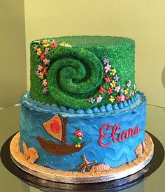 Moana Te Fiti Tiered Cake – Classy Girl Cupcakes Moana Party, Moana Themed Party, Boys 1st Birthday Party Ideas, 3rd Birthday Cakes, 4th Birthday, Moanna Cake, Cake Smash, Moana Cupcake, Moana Theme Birthday
