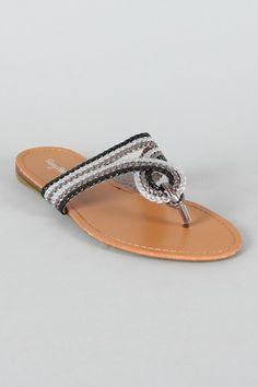 eae6818ec Sunny Feet Ashley-70 Braided Thong Flat Sandal