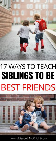 nice Siblings can be lifelong friends, and I hope that my kids are always there for each other. Here are 17 ways to encourage sibling relationships. Read More by tinaolesen Gentle Parenting, Parenting Humor, Kids And Parenting, Parenting Hacks, Parenting Classes, Parenting Styles, Peaceful Parenting, Parenting Plan, Parenting Issues
